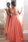 A Line Princess V Neck Off Shoulder Long Evening Prom Dress Party Gowns LD211