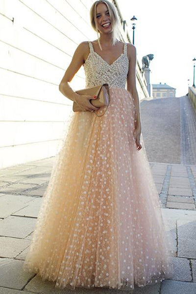 Charming A Line V Neck Lace Floor Length Prom Dresses Formal Evening Grad Gown Dress LD2145