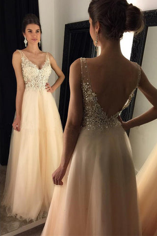 Off Shoulder V Neck Lace Backless Sexy Long Prom Dresses Party Gowns LD233