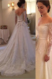 Princess Long Sleeves A Line Lace High Quality Wedding Dresses Bridal Gowns LD272