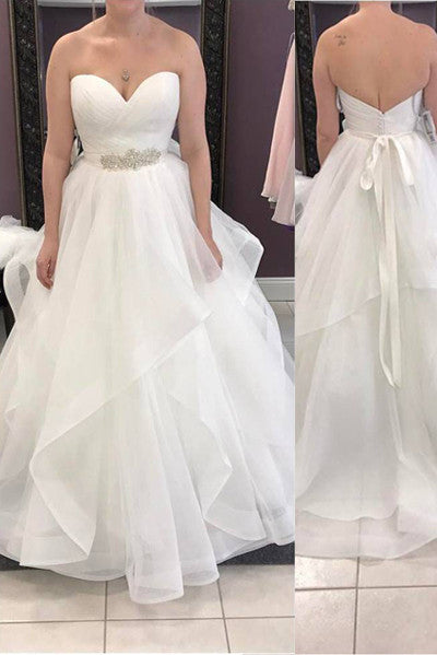 New Elegant Sweetheart Tiered High Quaity Cheap Wedding Dresses Bridal Gowns LD302