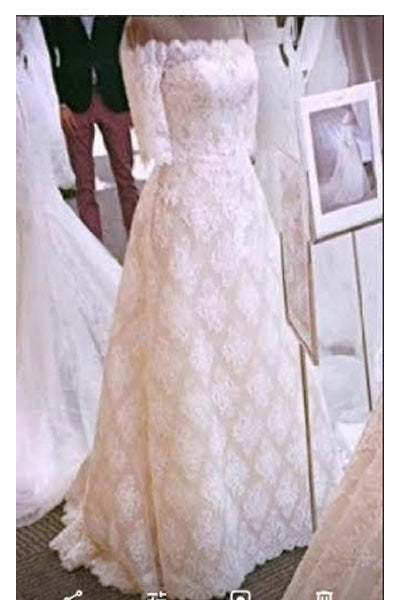 A Line Princess Half Sleeves Off the Shoulder Lace Long Beach Wedding Dresses Bridal Dress LD3079