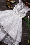 Front Short Long Back Lace White Homecoming Dresses Prom Party Gowns Wedding Dress LD329