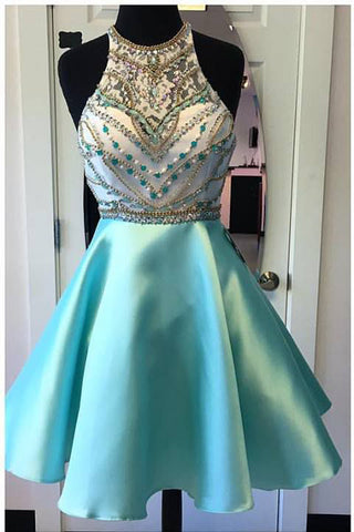 Short Turquoise Homecoming Dresses