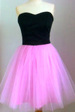 Simple Black Hot Pink Sweetheart Cheap Short Prom Dress Homecoming Dresses LD349