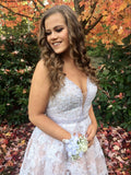 V Neck Off the Shoulder White Lace Short Prom Homecoming Dresses Cocktail Dress LD378