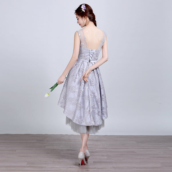 New Arrival Lace Front Short Long Back Homecoming Dress Prom Gowns Graduation Dresses LD401