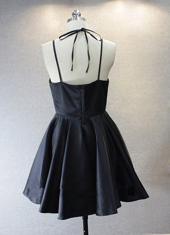 dcab3a83c82a ... Simple Dark Blue Spaghetti Straps Cheap Short Prom Homecoming Dresses  Party Gowns LD443 ...