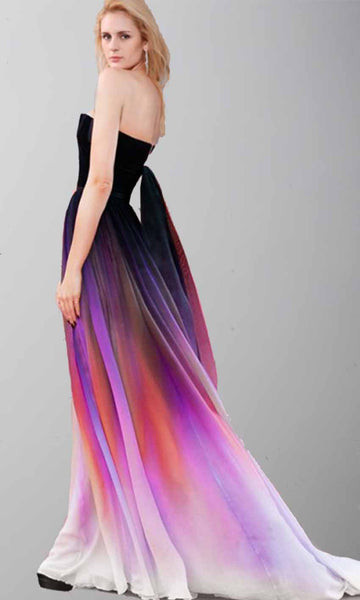 Hot Sales Colorized Gradient Chiffon U Neck Bridesmaid Dresses Prom Dress Party Gowns LD612