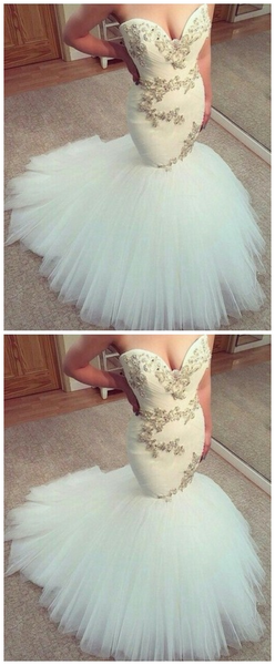 High Quality Sweetheart Beaded Mermaid Long Wedding Dresses Bridal Dress Wedding Gowns LD624