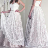A Line Sweetheart Lace Cheap Long Wedding Dress Bridal Dresses Wedding Gowns LD641