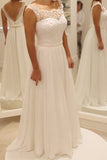 Cap Sleeves Ivory Back V Wedding Dresses Bridal Dress Wedding Gown With Beads Belt LD681