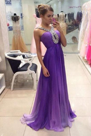 54a44126d0a Ombre Purple Chiffon Off the Shoulder Long Prom Dresses Evening Gowns –  Laurafashionshop