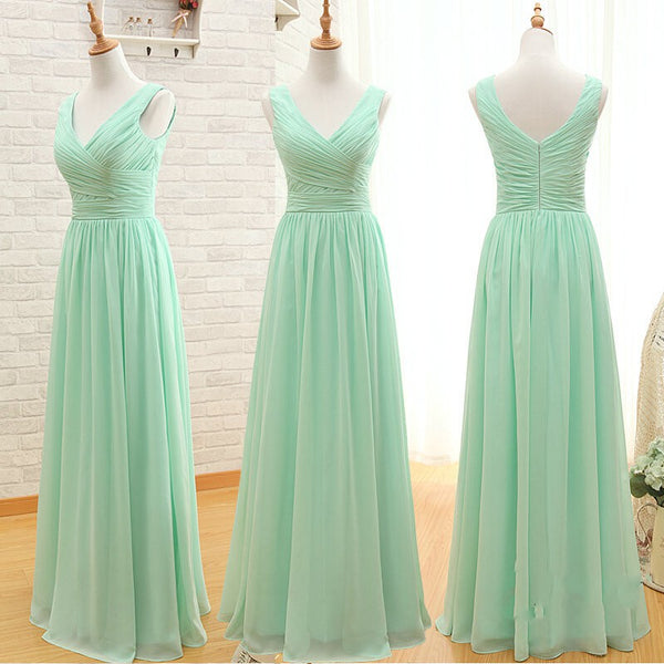 A Line Off the Shoulder Mint Long Bridesmaid Dresses Prom Dress Bridesmaid Gown LD724