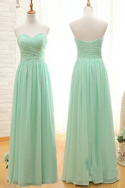 Elegant Sweetheart A Line Mint Chiffon Bridesmaid Dress Prom Dresses Bridesmaid Gown LD725