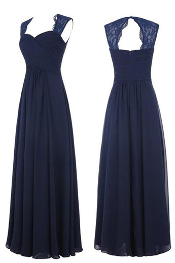 Hot Sales Off the Shoulder Navy Blue Long Bridesmaid Dress Prom Dresses Party Gowns LD734