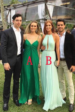 New Arrival Green Long Bridesmaid Dresses,Sexy Cheap Backless Bridesmaid Dress Prom Dress LD773