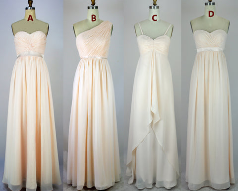 Hot Sales Empire Waist Different Style Bridesmaid Dress Chiffon Cheap Bridesmaid Dresses LD777
