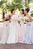 New 2018 Strapless Mermaid Bridesmaid Dresses Tassels Long Bridesmaid Dress Prom Dress LD789