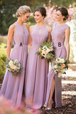 New Arrival A Line Long Bridesmaid Dresses Cheap Hater Bridesmaid Dress Prom Dress LD800
