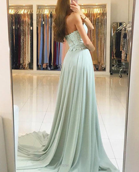Hot Sales A Line Lace Chiffon Long Cheap Prom Dresses Evening Gowns Party Dress LD844