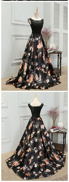 New Arrival Black Lace A Line Fashion Cheap Prom Dresses 2018 Evening Gowns Party Dress LD858