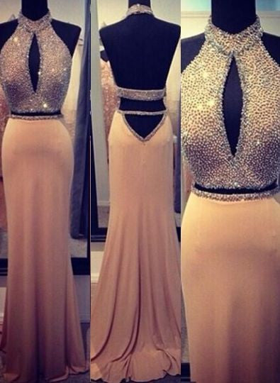 Open Back Prom Dresses, Backless Evening Dresses #LF0011