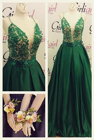 Beaded Long Prom Dress With Sheer Bodice And Cap Sleeves #LF0110