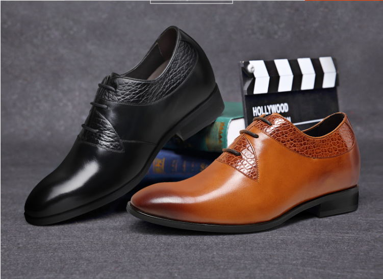 New arrival british fashion genuine leather increase height 7 cm men dress shoes  #H71D16K101D