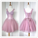 Pink Lace Blush Pink Sweet 16 Dress #H097