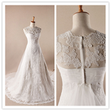 A-line Lace Wedding Dresses #W017