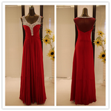 Sparkly Sequins Sleeveless  Burgundy Bridesmaid Dress #B031