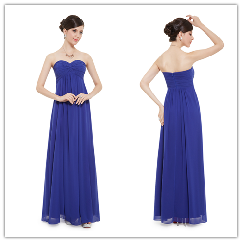 Chiffon Sweetheart Empire Bridesmaid Dresses With Twist Front #B047