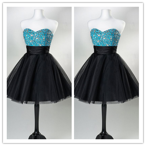 Tulle Cute Homecoming Dress Short Prom Dress #H011