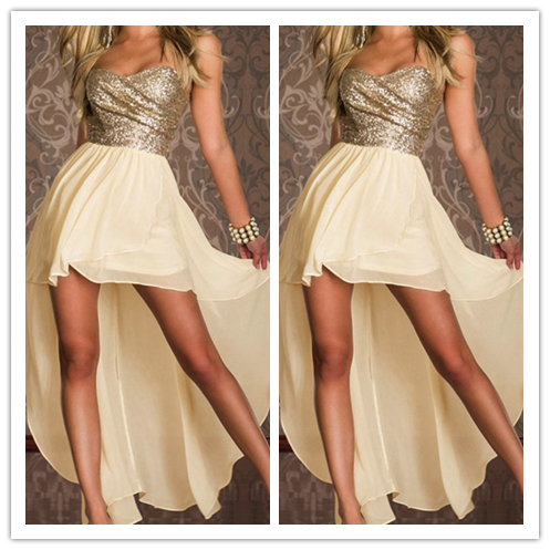 High Low Chiffon Homecoming Gowns #H083