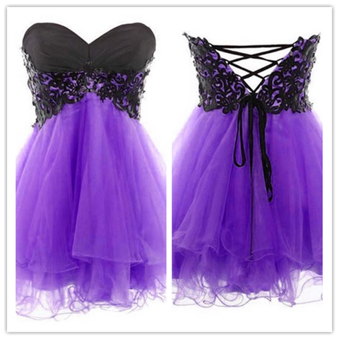 Tulle Lace Cute Fitted Homecoming Dress #H109