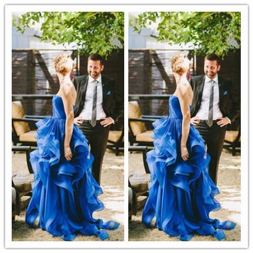 Royal Blue Charming Real Made Prom Dresses #L28