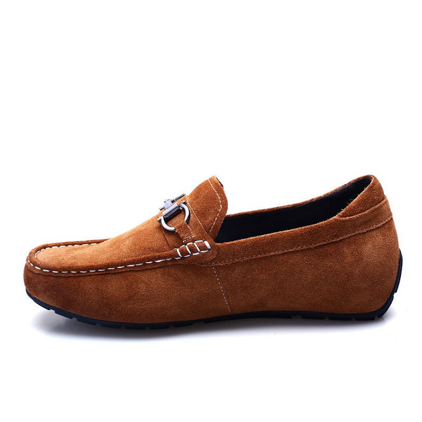 Imitated fur camel height increasing casual make you taller shoes#D032H08-3