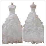 Sweetheart Organza White With Rich Ruffles Wedding Dress #W07