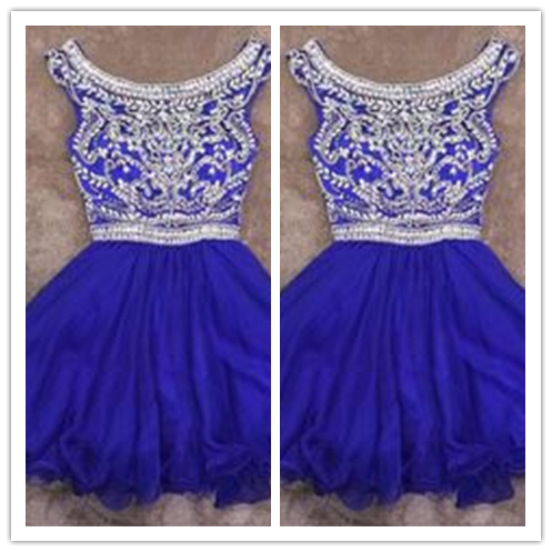 Short 2016 Beading Short Prom Gown Sweet 16 Dress #H031