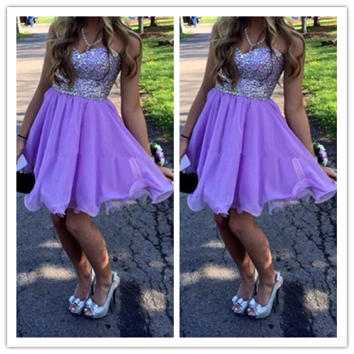 Beading Homecoming Dress #H069
