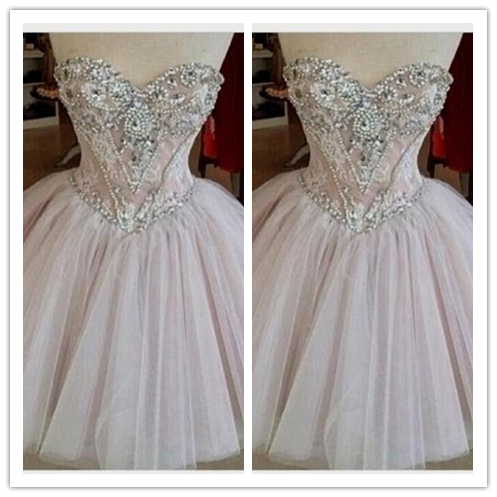 Tulle Lace Cute Elegant Sweet 16 Dress #H079