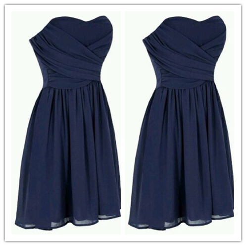 Navy Blue Homecoming Dress #H044