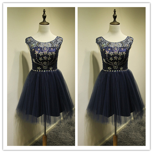 Tulle Cute Short Prom Dress for girls #H095