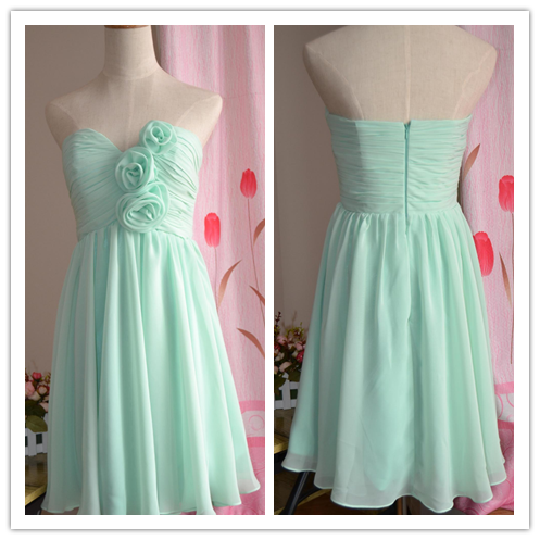 Sweetheart Knee Length Chiffon Bridesmaid Dresses #B026