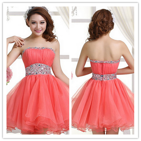 Coral Sexy Homecoming Dresses Sweet 16 Dress #H111