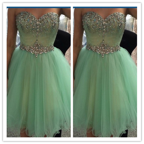 Short Mint Cheap Junior Homecoming Dress #H082