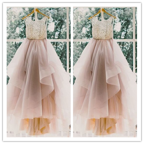 Charming A-Line Beading Long Prom Style Dresses #T193