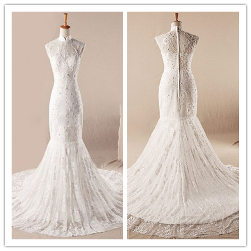Simple A-line Strapless Sweep Train Chiffon Wedding Dress with Beads and Pleats #HS0043