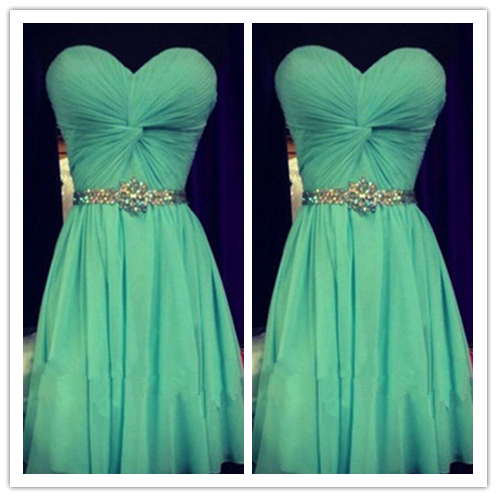 Mint Green Homecoming Dress #H043